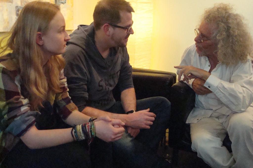 Im Gespräch: Leonie Brauer, Wolfgang Britzl und Rainer Langhans